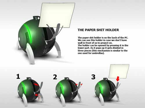 Monitornya kertas?