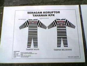 Baju tahanan khusus buat para koruptor!