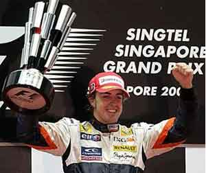 Alonso Juara F1 Singapura