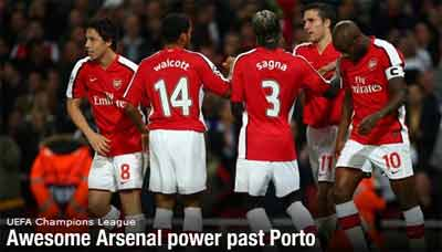 Arsenal beat Porto 4-0! (photo from uefa.com)